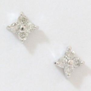 ダイヤモンド 計 0.04ct×2 ピアス  18金ホワイトゴールド(K18WG)   【中古】 ジュエリー 【新品仕上げ済み】 netshop|jewelry-total