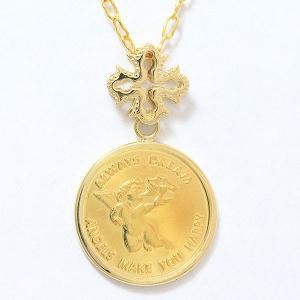 コイン エンジェル 天使  ネックレス  18金イエローゴールド(K18YG)/24金イエローゴールド(K24YG)   【中古】 ジュエリー 【新品仕上げ済み】 netshop|jewelry-total