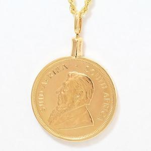 ネックレス クルーガーランド金貨 コイン  ネックレス  18金/24金イエローゴールド(K18/K24YG)   【中古】 ジュエリー 【新品仕上げ済み】 netshop|jewelry-total