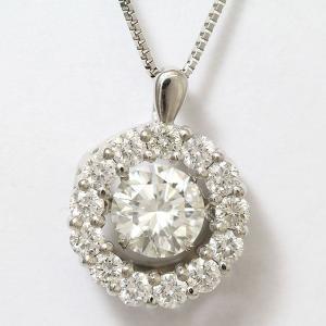 CROSSFOR(クロスフォー)   ダンシングストーン ダイヤモンド 1.023ct(メイン) 計0.74ct(メレ)  Pt850/Pt900  【中古】 ジュエリー 【新品仕上げ済み】netshop|jewelry-total