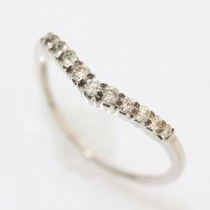 ダイヤモンド 計0.20ct リング 11号 10金ホワイトゴールド(K10WG)   【中古】ジュエリー 【新品仕上げ済み】 netshop|jewelry-total
