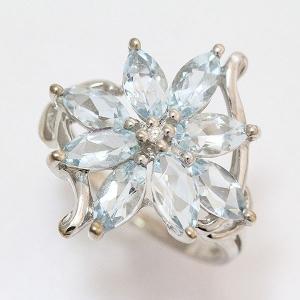 アクアマリン リング 12号 14金ホワイトゴールド(K14WG)   【中古】ジュエリー 【新品仕上げ済み】 netshop|jewelry-total