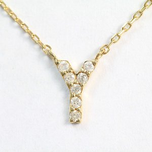 CELINE(セリーヌ) ネックレス イニシャル Y ダイヤモンド   18金イエローゴールド(K18YG)   【中古】ブランド ジュエリー 【新品仕上げ済み】 netshop jewelry-total
