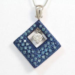 サザンクロス(Southern Cross) ネックレス  ダイヤモンド 0.219ct/ブルーダイヤモンド 計0.40ct   Pt850/Pt900   【中古】 【新品仕上げ済み】 netshop|jewelry-total