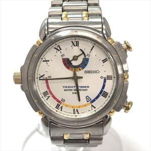 SEIKO(セイコー) ヨットタイマー 8M37-7000  ステンレススチール(SS) クォーツ メンズ  【中古】 腕時計 net shop|jewelry-total