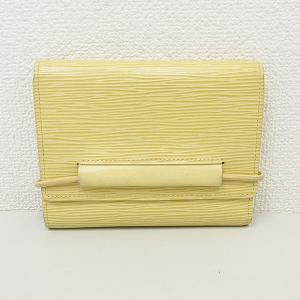 LOUIS VUITTON(ルイヴィトン) エピ ポルトフォイユエラスティック 三つ折り財布 M6346A イエローベージュ 【ブランド財布】 【中古】|jewelry-total