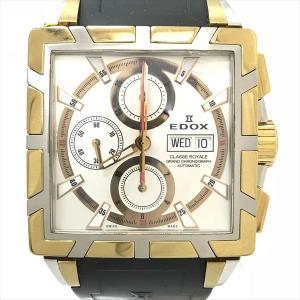EDOX(エドックス) クラスロイヤル グランドクロノグラフ 01105  ステンレススチール(SS)×GP オートマティック(自動巻き) メンズ  【中古】 腕時計 netshop|jewelry-total
