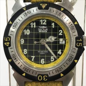 セクター200 ファッションウォッチ 3351200735 黒色文字盤  クォーツ 男女兼用 【中古】 腕時計 all shop KG|jewelry-total