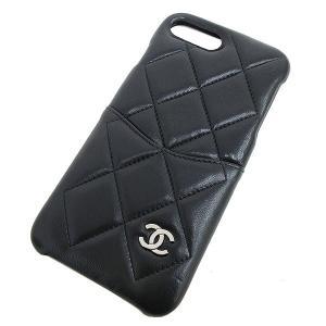 CHANEL(シャネル) マトラッセ iphone7 8plus ケース スマホカバー  黒 ブラック  【ブランド小物】  【中古】 netshop|jewelry-total