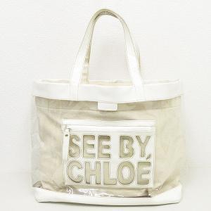 SEE BY CHLOE(シーバイクロエ) トート/ハンドバッグ 白 ホワイト / 【ブランドバッグ】【中古】|jewelry-total