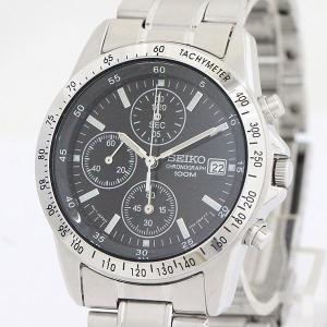 76fc262694 SEIKO(セイコー) クロノグラフ 7T92-0DW0 ブラック ステンレススチール(SS) クォーツ メンズ 【中古】 腕時計 netshop