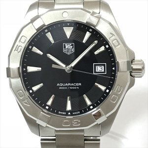 TAG HEUER(タグホイヤー) アクアレーサー300M WAY1110.BA0928 ブラック ステンレススチール(SS) クォーツ メンズ  【中古】 腕時計 netshop|jewelry-total
