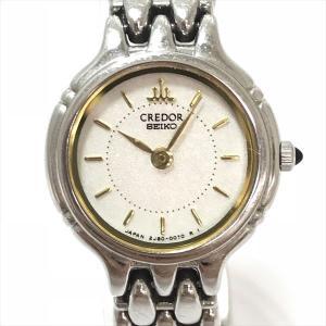 SEIKO(セイコー) CREDOR クレドール 2J80-0090 ホワイト文字盤 ステンレススチール(SS) クォーツ レディース  【中古】 腕時計 netshop|jewelry-total