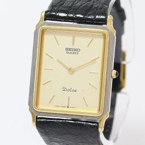 SEIKO(セイコー) ドルチェ 9520-5310 ゴールド文字盤 SS×レザー クォーツ レディース  【中古】 腕時計 net shop|jewelry-total