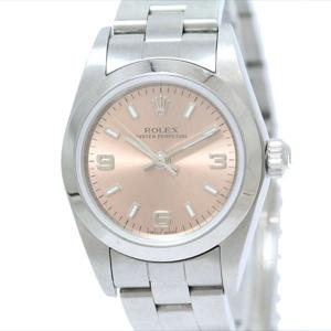 ROLEX(ロレックス) オイスター パーペチュアル 76080 ピンク文字盤 ステンレススチール(SS) オートマティック(自動巻き) レディース  【中古】 腕時計|jewelry-total