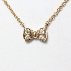ネックレス リボン ダイヤモンド 計0.04ct 18金ピンクゴールド(K18PG) 【新品】 ジュエリー|jewelry-total