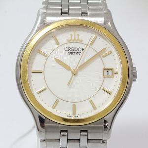 SEIKO(セイコー) クレドール シグノ GCAZ010 ホワイト文字盤 SS×YG クォーツ メンズ  【中古】 腕時計|jewelry-total