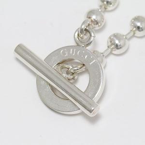 GUCCI(グッチ) 1697AR SV925 / ネックレス シルバー ボールチェーン【中古 ジュエリー】 jewelry-total