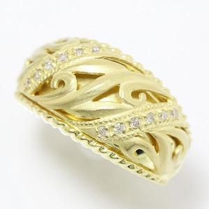 K18YG ダイヤモンド 計0.12ct リング <13号/#13> 18金イエローゴールド 【指輪/カラット】【中古 ジュエリー】【新品 仕上げ済み】 jewelry-total