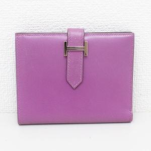 HERMES(エルメス) べアンコンパクト 二つ折り財布 紫 パープル【中古】【ブランドバッグ】|jewelry-total