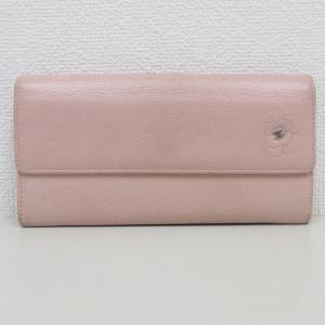 CHANEL(シャネル) 長財布 カメリア ピンク レザー 【中古】【ブランドバッグ】|jewelry-total