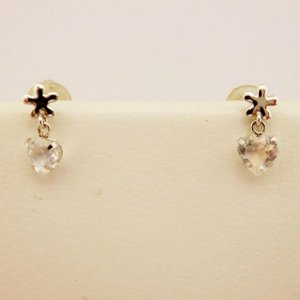 K14WG ブルームーンストーン ピアス|jewelry-watch-bene