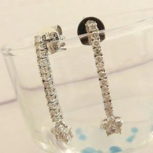 K18WG ダイヤモンド0.62ct 花型 ピアス|jewelry-watch-bene