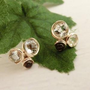 K10 マルチカラー クオーツ ピアス|jewelry-watch-bene