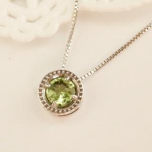 8月のお誕生石 K10WG ペリドット ネックレス|jewelry-watch-bene