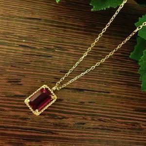 アンボニー K10 ガーネット ネックレス jewelry-watch-bene