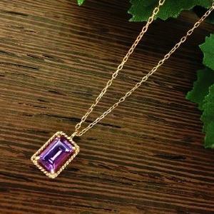アンボニー K10PG アメジスト ネックレス|jewelry-watch-bene
