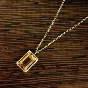 アンボニー K10 シトリン ネックレス|jewelry-watch-bene