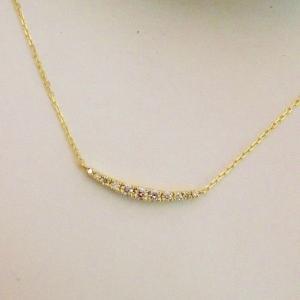 K18 ダイヤモンド0.12ct ラインネックレス|jewelry-watch-bene