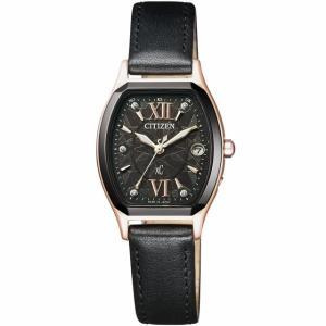 【希少な限定正規品・送料無料!】CITIZEN/シチズン XC/クロスシー LIGHT in BLACK/ライト イン ブラック レディースソーラー電波 ES8154-12E|jewelry-watch-bene
