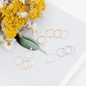 【送料無料】 リング 指輪 レディース 4連 4連リング アクセサリー アクセ 重ね付け 重ね付けリング 重ね付け指輪 セット セットリング|jewelryhills