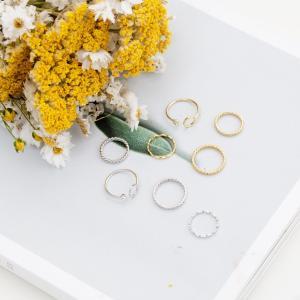 ポイント消化 ポイント 【送料無料】 リング 指輪 レディース アクセサリー アクセ 4連 4連リング 重ね付け セット|jewelryhills