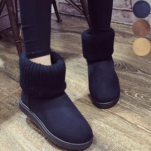 ムートンブーツ ムートン ショートブーツ ブーツ 靴 レディース 秋冬 無地 シンプル カジュアル シンプルブーツ ニットブーツ