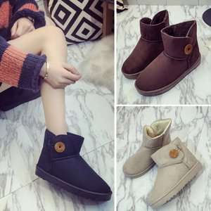 【SALE】 靴 シューズ ブーツ ムートン ムートンブーツ レディース シンプル ベーシック 定番 ボタン デザイン|jewelryhills