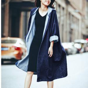 デニムジャケット デニムコート レディース ロング丈 ロング ロングコート コート 大きいサイズ 小さいサイズ アウター デニム フード カジュアル|jewelryhills