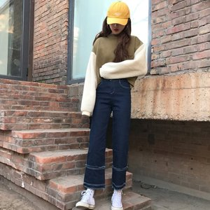 【SALE】 デニム デニムパンツ ジーンズ レディース ジーパン デザインジーンズ デザインデニム カットオフ 切りっぱなし|jewelryhills