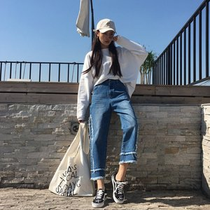 デニム デニムパンツ ジーンズ レディース ジーパン デザインジーンズ デザインデニム カットオフ 切りっぱなし|jewelryhills