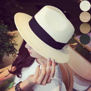 ハット 帽子 中折れ 中折れハット 麦わら 麦わら帽子 ストローハット レディース シンプルハット シンプル 日よけ 紫外線対策|jewelryhills