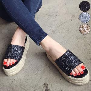 夏 サンダル ビーチサンダル 海 厚底 厚底サンダル ラメ キラキラ シンプル シューズ 靴 レディース|jewelryhills