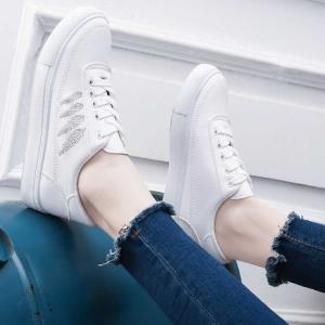 スニーカー 靴 ホワイトスニーカー ホワイト レディース 紐靴 シンプル シンプルスニーカー カジュアル カジュアルシューズ|jewelryhills