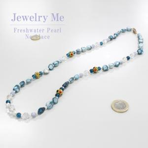水晶 淡水パールレインボーオーラ ネックレス  レディース パワーストーン 天然石 送料無料  通販 高木ミンク ジュエリーミー jewelryme