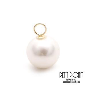 チャーム パーツ K18 貝パール 9ミリ 一粒 パール【JACKET-0657】シングル・パーツ(1個売り)|jewelrypetitpoint1