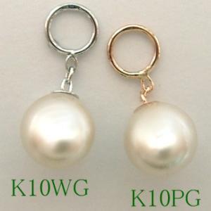 チャーム パーツ【JACKET-3000-2999-3126】K10WG K10PG K10YG 貝パール 5ミリ パール シングル・パーツ(1個売り)|jewelrypetitpoint1