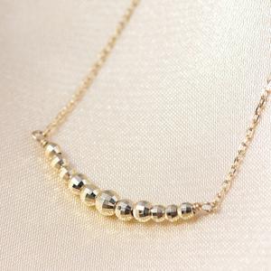 10金ネックレス レディース ペンダント k10 ゴールド ダイヤモンドのような輝き K10