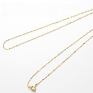 地金:K18イエローゴールド(18金) チェーン全長:約50cm スクリューチェーン/チェーン幅:約...