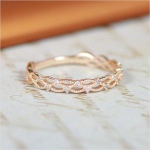 ピンキーリング k10 10金 指輪 1号~7号 ゴールド ダイヤモンド レディース 小指 華奢